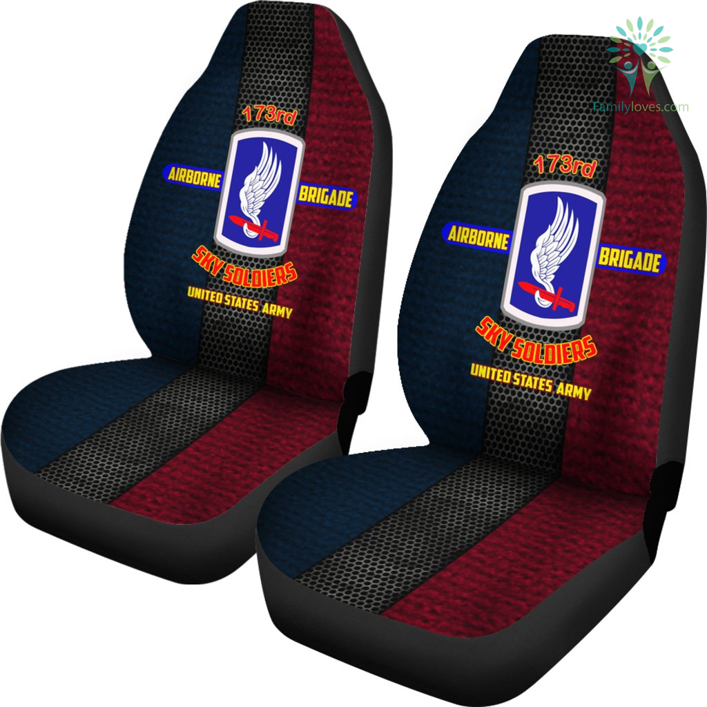 173rd Airborne Brigade Sky Soldiers United States Army Car Seat Covers Familyloves.com