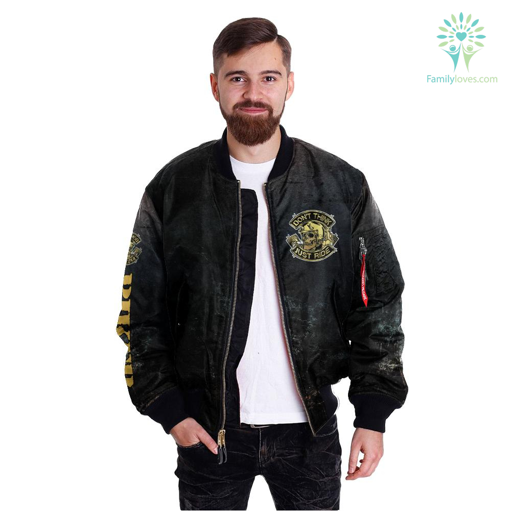 Don't think just ride over print jacket Familyloves.com