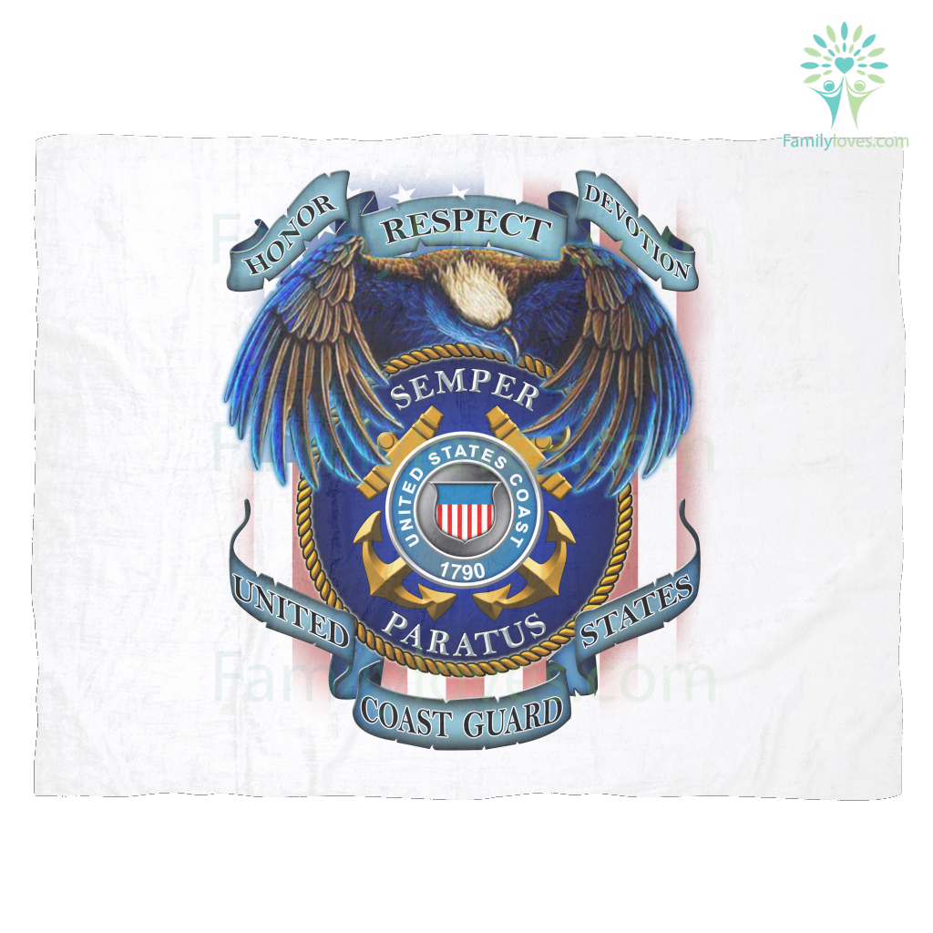 HONOR RESPECT DEVOTION SEMPER PARATUS UNITED STATES COAST GUARD Fleece Blanket Familyloves.com