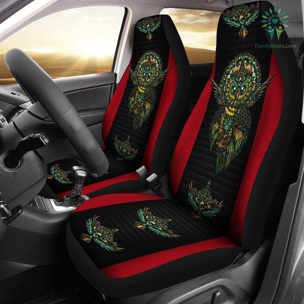 Native American Owl Printed 3D Car Seat Cover Familyloves.com