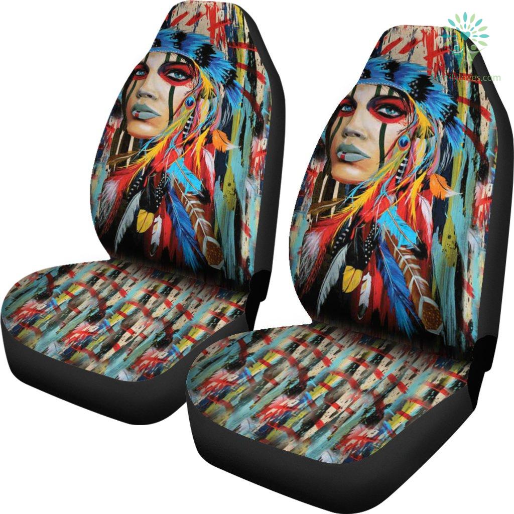 Native American Woman Car Seat Cover Familyloves.com