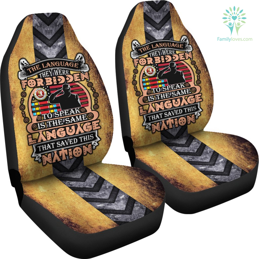 The language forbidden to speak is the same language that save this nation car seat cover Familyloves.com