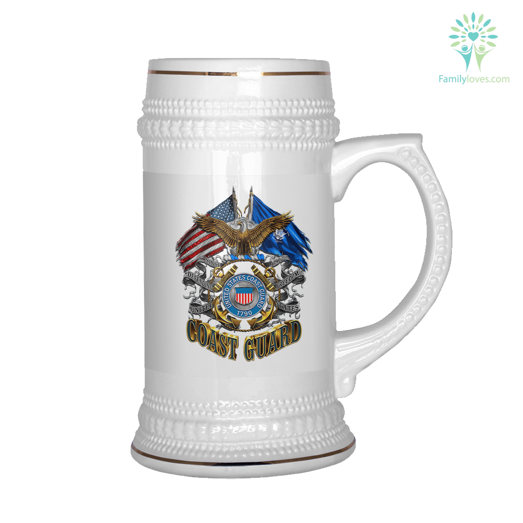 United States Coast Guard 1790 BEER STEIN Familyloves.com
