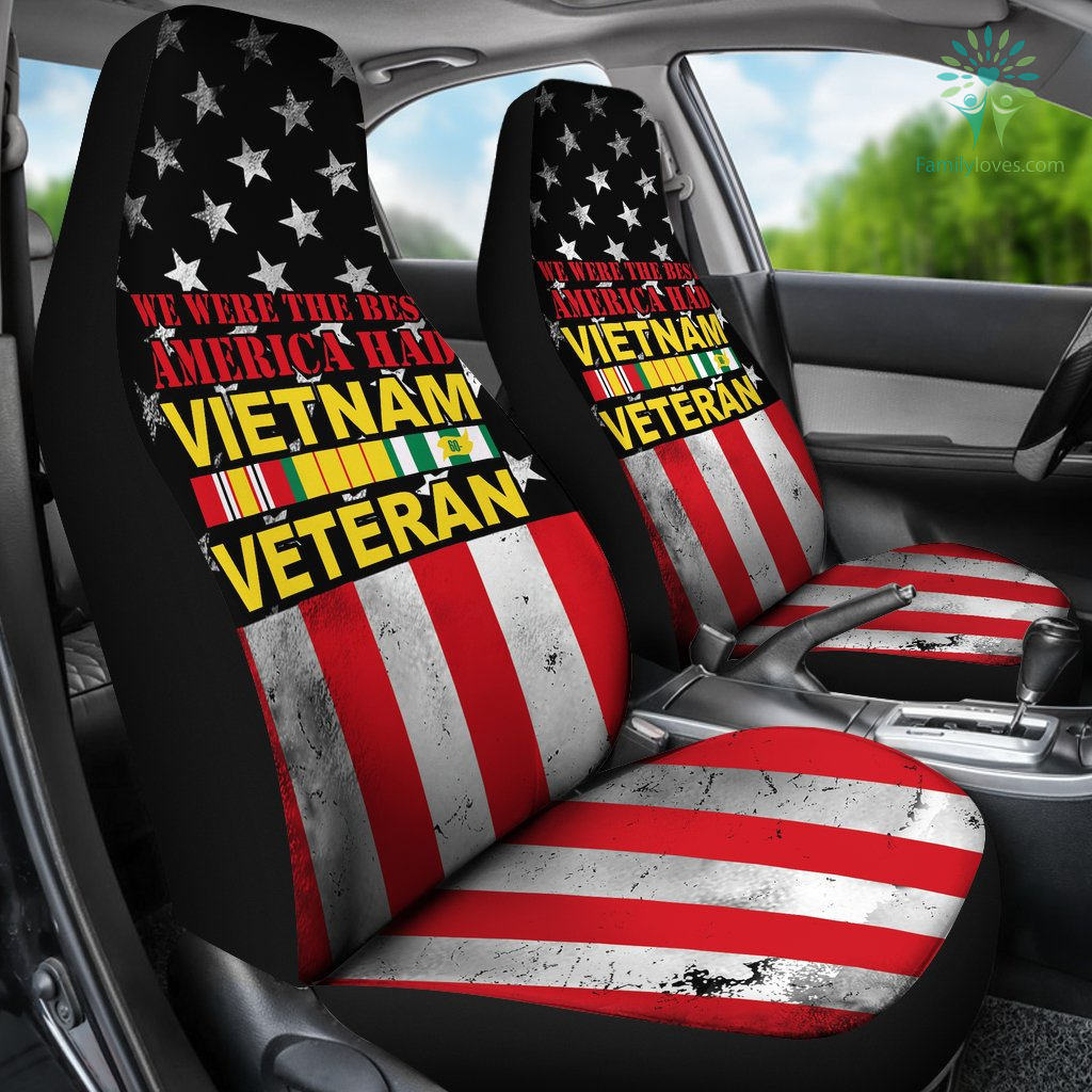 we were the best america had vietnam veteran car seat covers Familyloves.com
