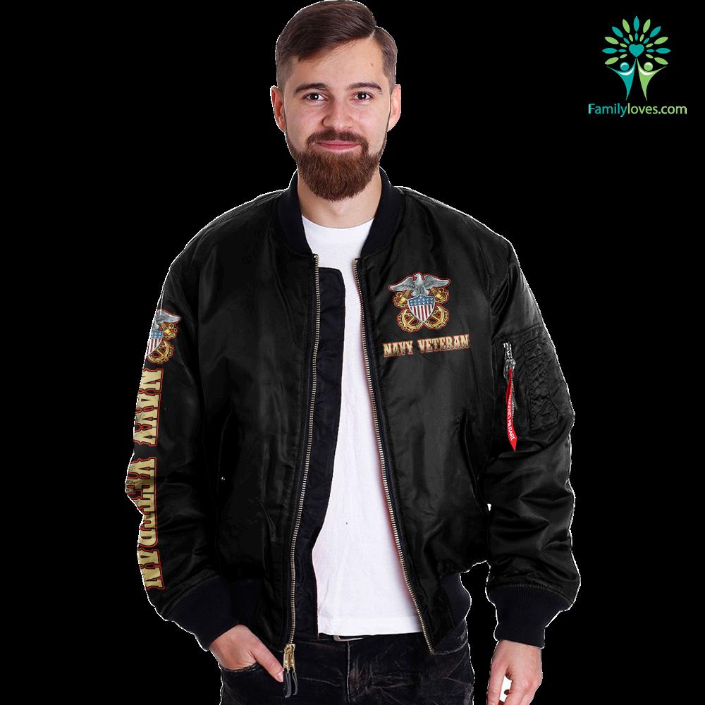 I Am A Navy Veteran... Over Print Jacket Familyloves.com