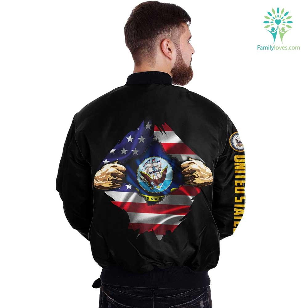 US Navy Hero Of America Over Print Jacket Familyloves.com