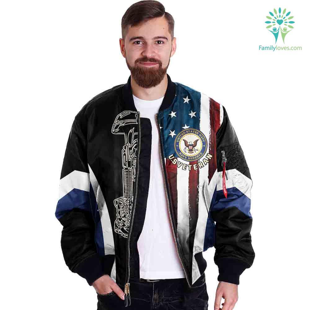 Navy Veteran Honor The Fallen Over Print Jacket Familyloves.com