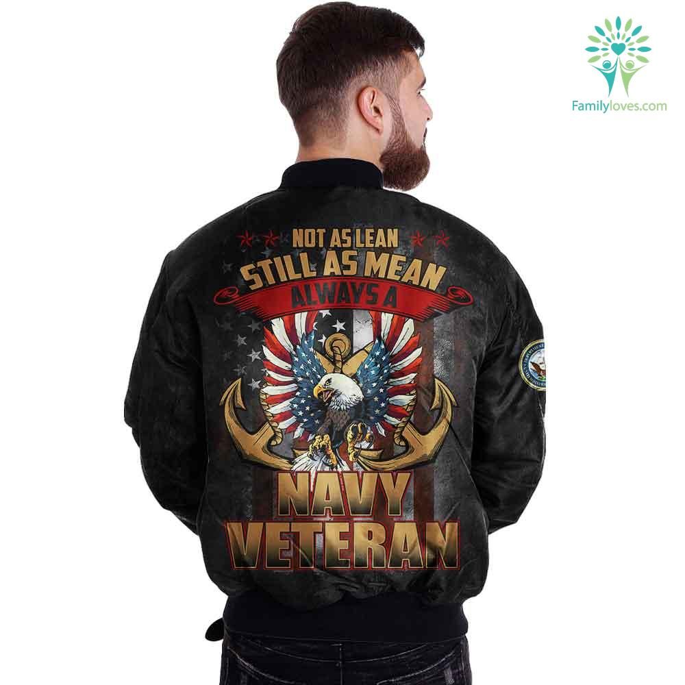 Not as lean still as mean always a navy veteran Over Print Jacket Familyloves.com