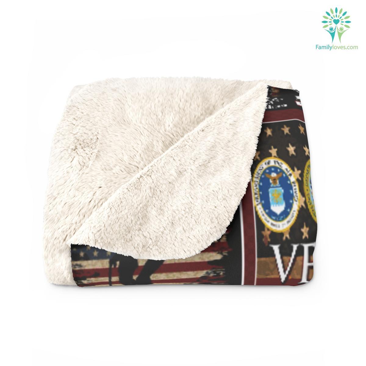Gift ideas for veterans day, I am a veteran dad Sherpa Fleece Blanket Familyloves.com