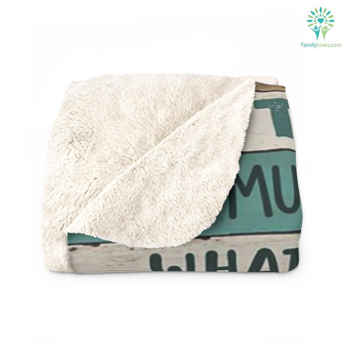 To My Dad Sherpa Fleece Blanket Familyloves.com