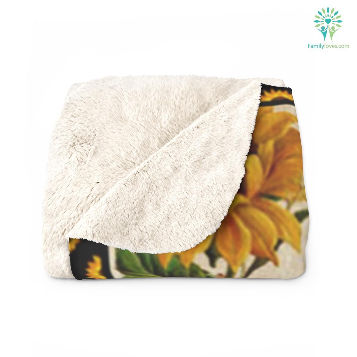 For My Mom Quotes Sherpa Fleece Blanket Familyloves.com