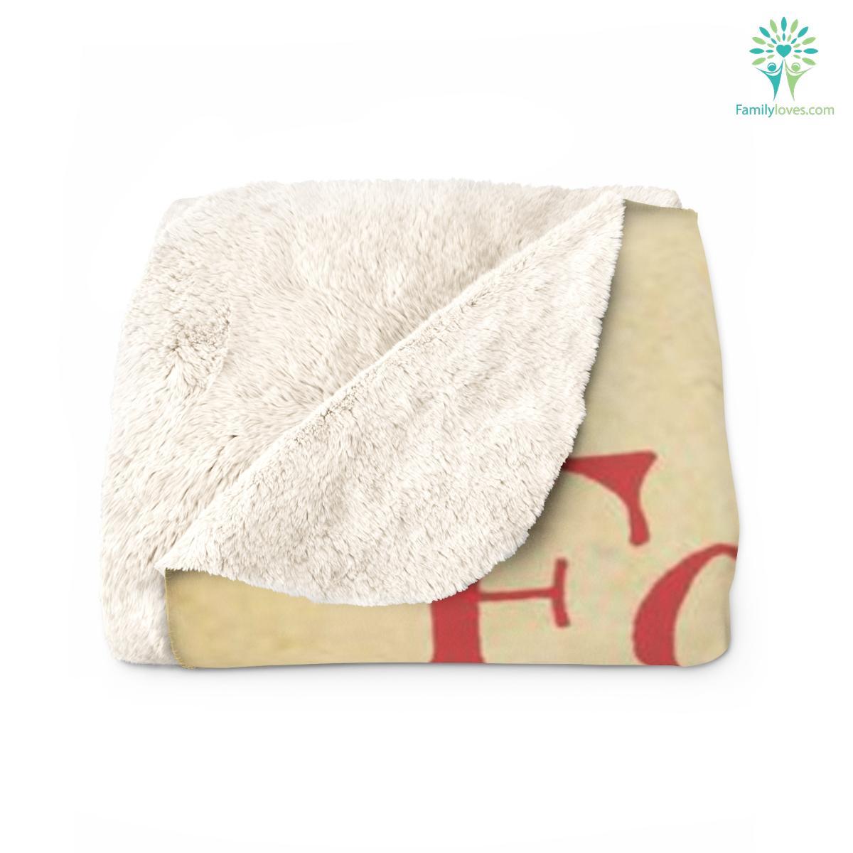 Love For My Son Quotes Sherpa Fleece Blanket Familyloves.com