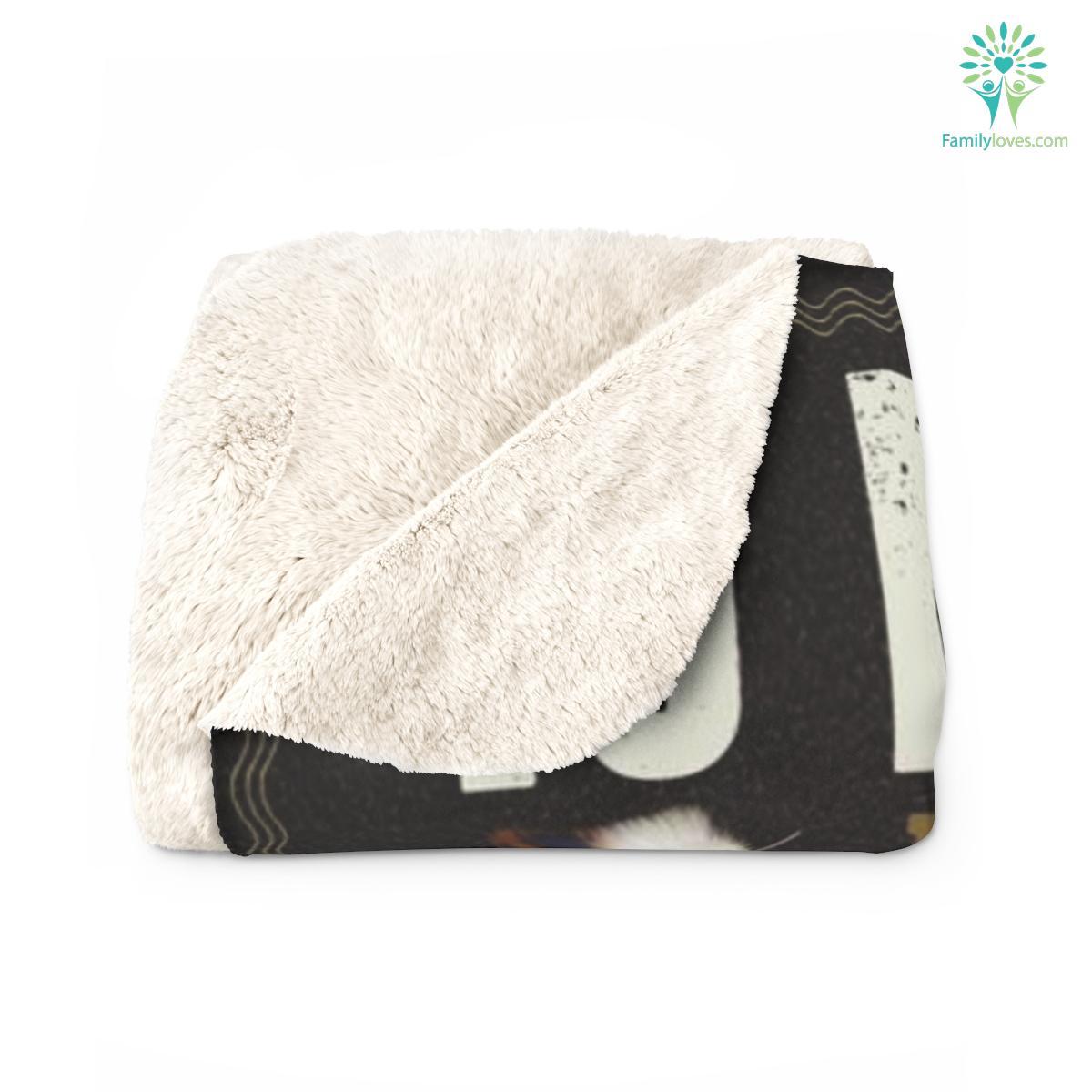 To My Son Sherpa Fleece Blanket Familyloves.com