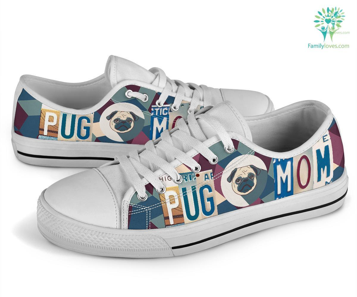 Pug Mom Low Top Shoes Familyloves.com