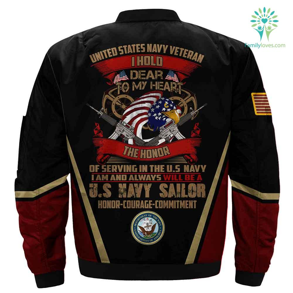 US Navy veteran i hold dear to my heart the honor of serving in the 3D full print jacket Familyloves.com