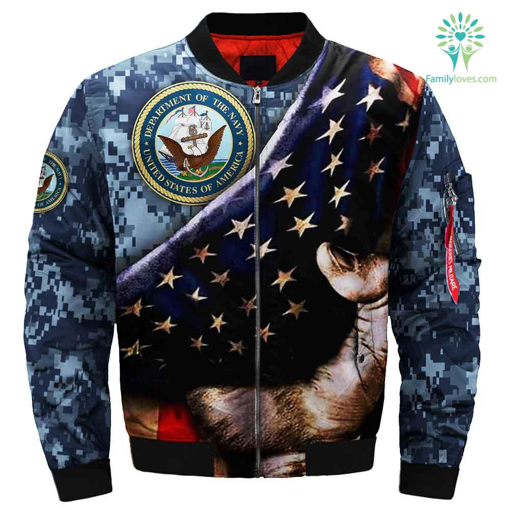 U.S Navy hand pulled out 3D Print Jacket Familyloves.com