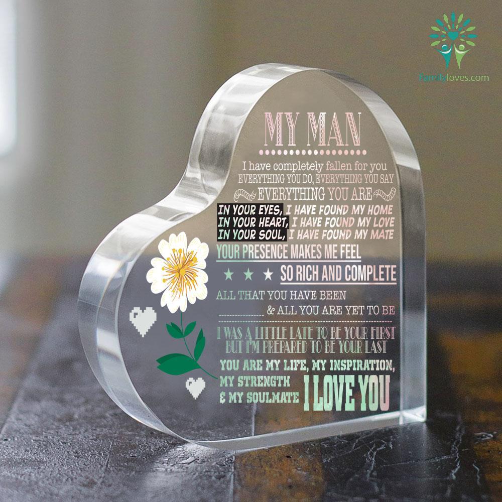 My Man I Have Fallen For You Heart Keepsake Familyloves.com
