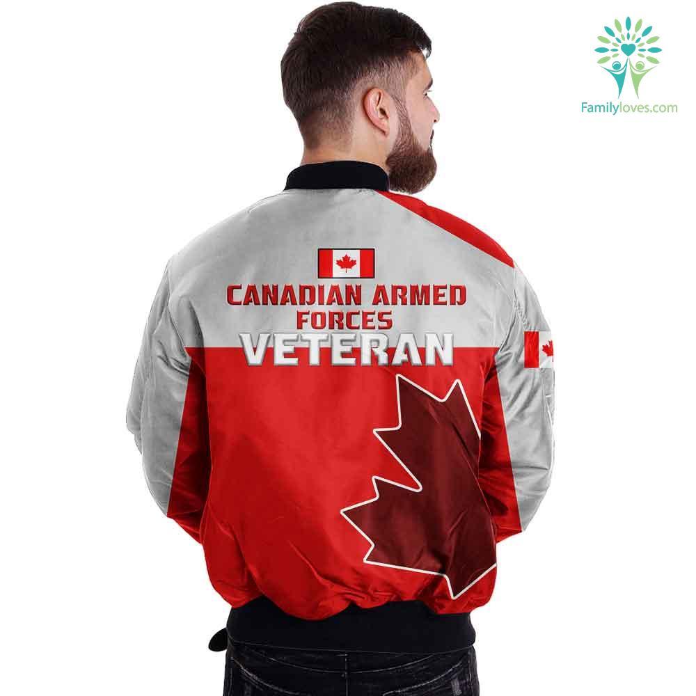 Canadian veteran armed forces 3D print jacket Familyloves.com
