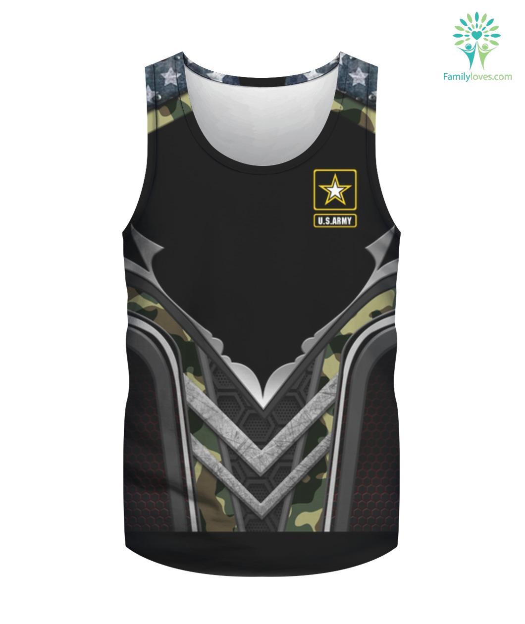 Proud Army Stepdad Shirt - Military Family Shirts Gift Familyloves.com