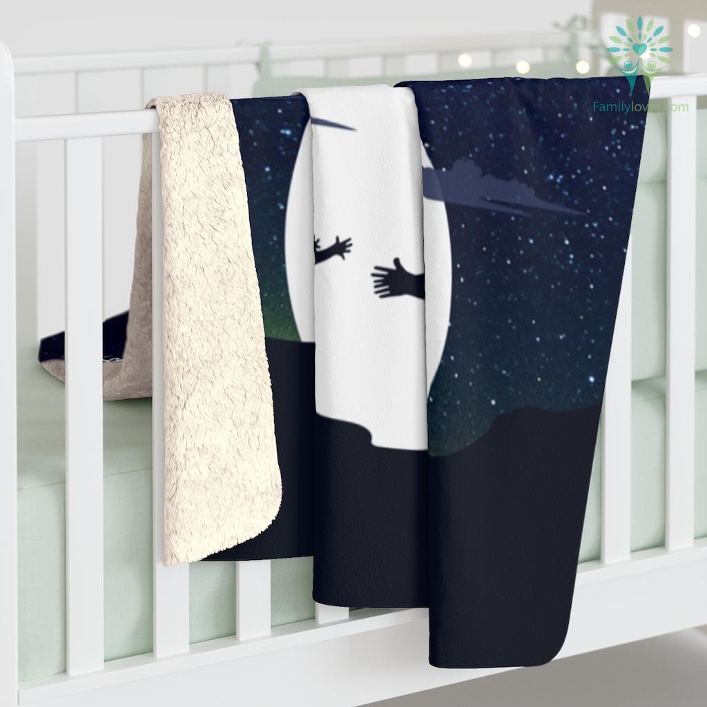 DAUGHTER MOM - BELIEVE IN YOURSELF Sherpa Fleece Blanket Familyloves.com