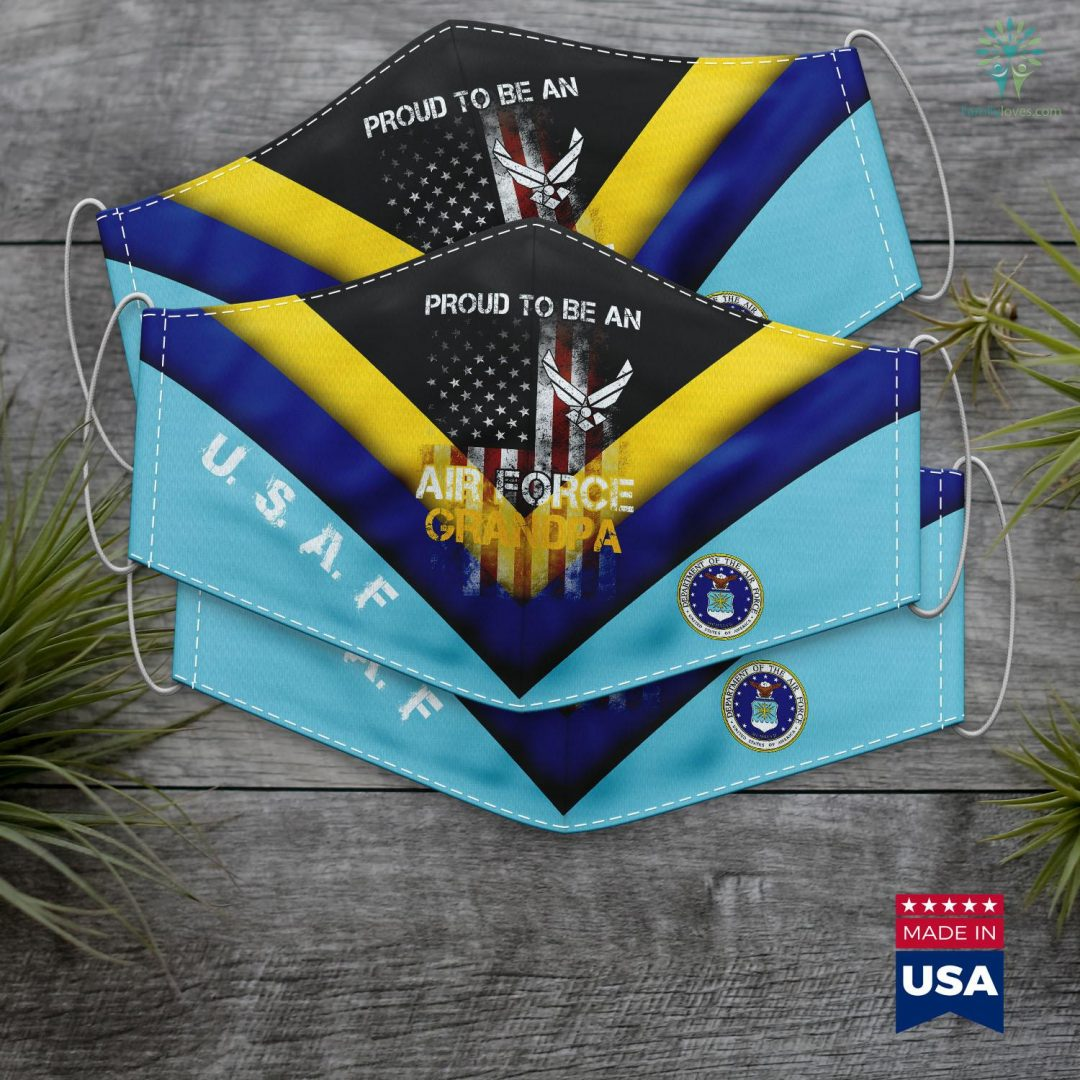 Acc Career Services Proud Air Force Grandpa Funny American Flag Face Mask Gift Familyloves.com