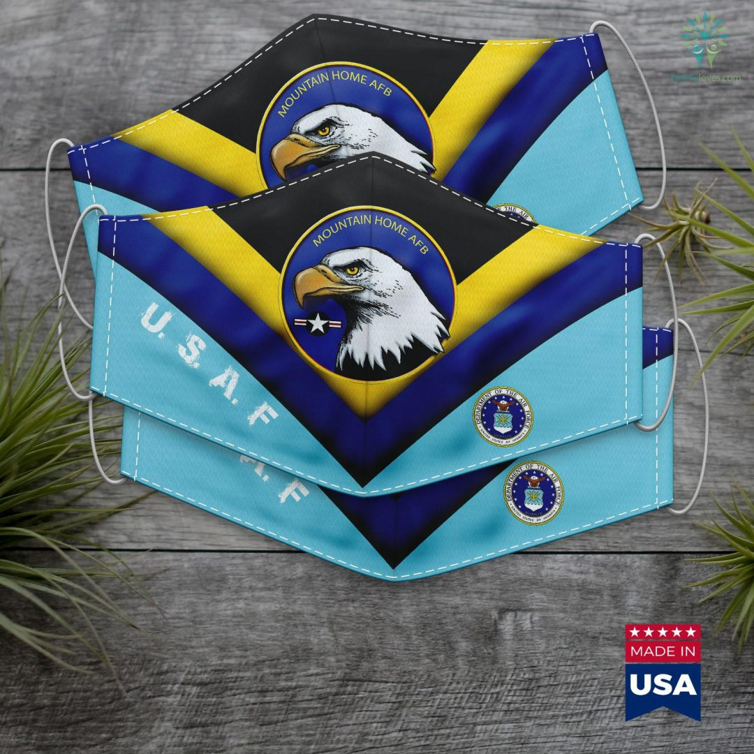 Air Force In Mountain Home Air Force Base Eagle Roundel Logo Face Mask Gift Familyloves.com