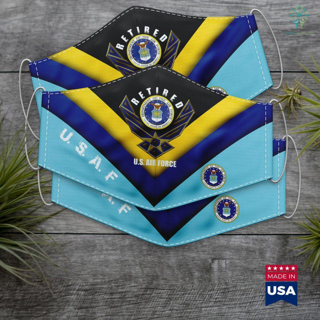 Byu Book Exchange Retired Us Air Force Veteran Retirement Gift Tee Face Mask Gift Familyloves.com