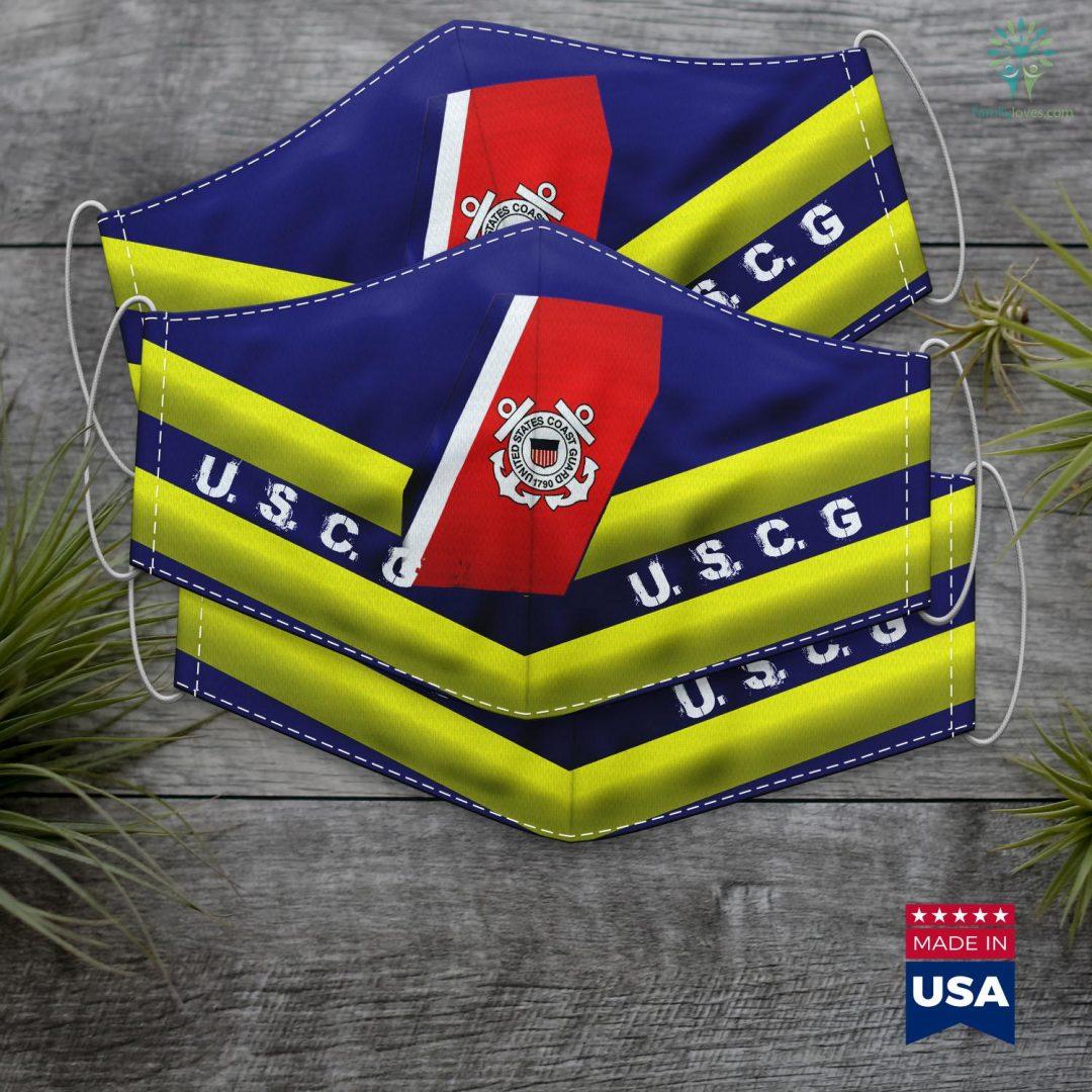 Coast Guard Direct Access U.S. Coast Guard Original Uscg Logo Gift Face Mask Gift Familyloves.com