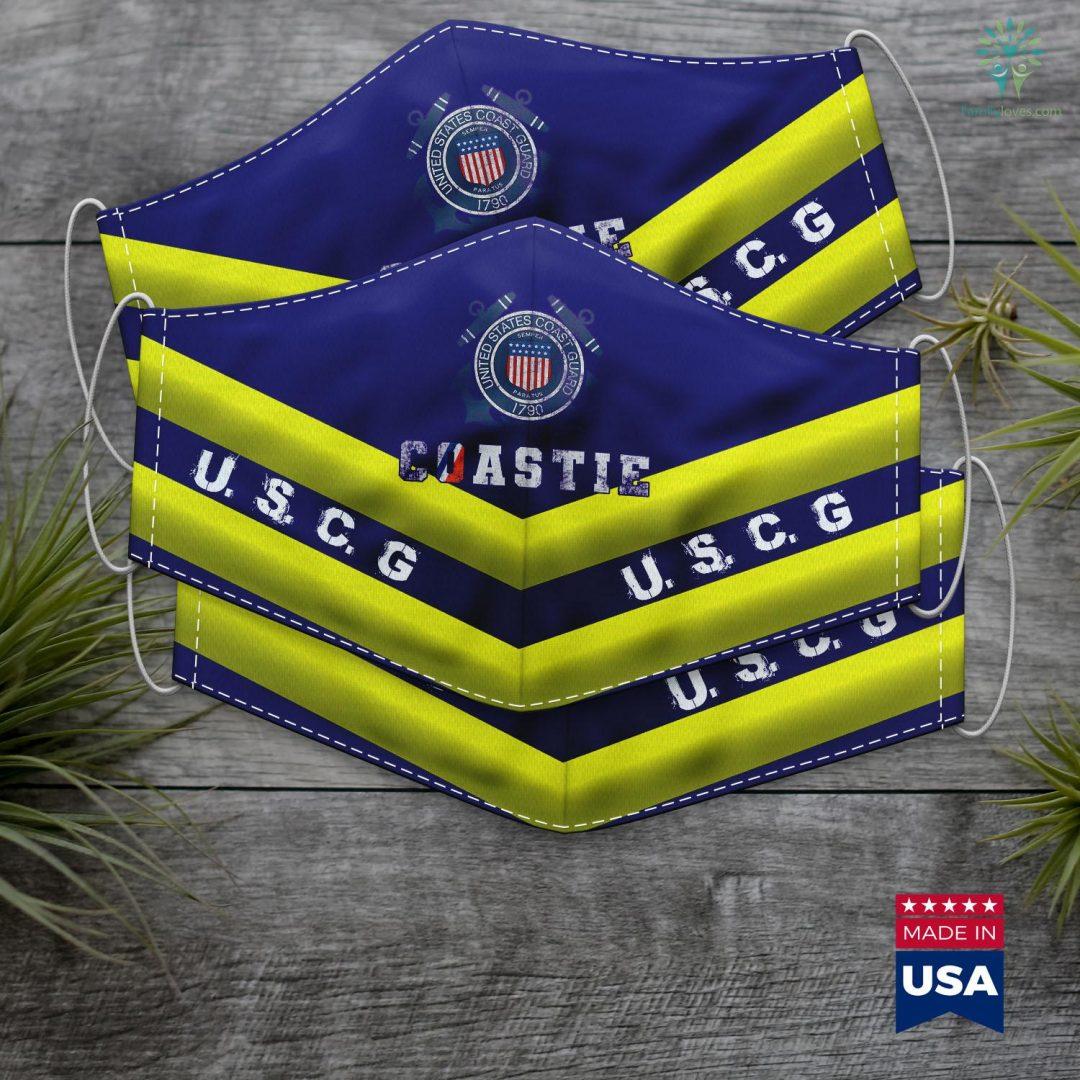 United States Coast Guard Auxiliary U.S. Coast Guard Original Veteran Uscg Coastie Face Mask Gift Familyloves.com