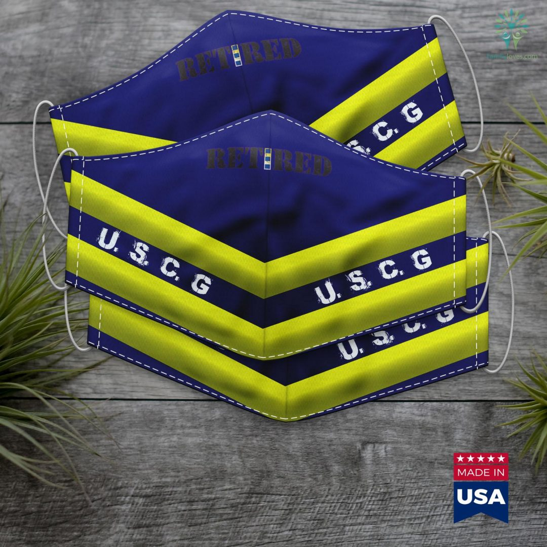 United States Coast Guard Cutter Us Coast Guard Cwo2 Retired Face Mask Gift Familyloves.com