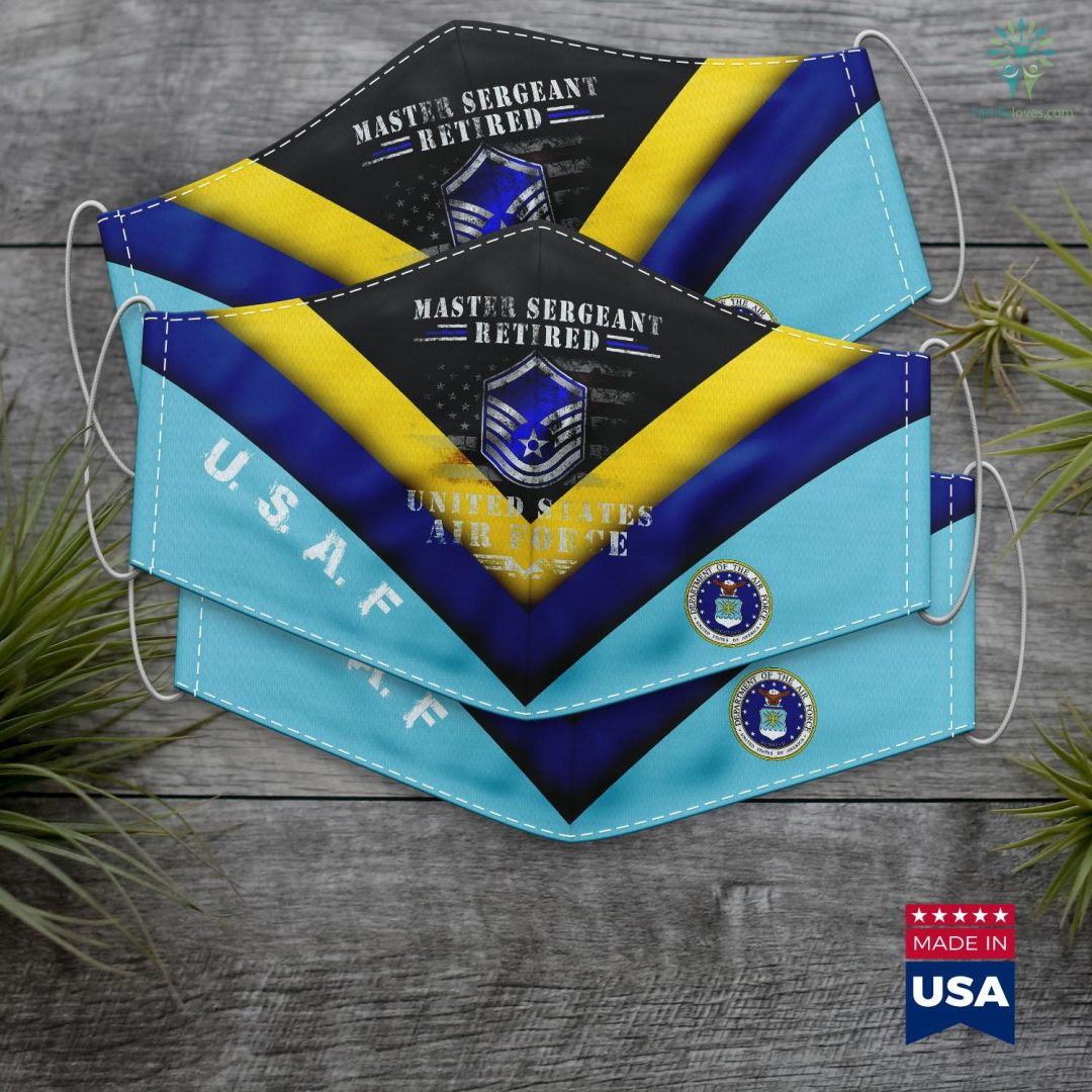 Us Air Force Birthday Master Sergeant Retired Air Force Military Retirement Face Mask Gift Familyloves.com