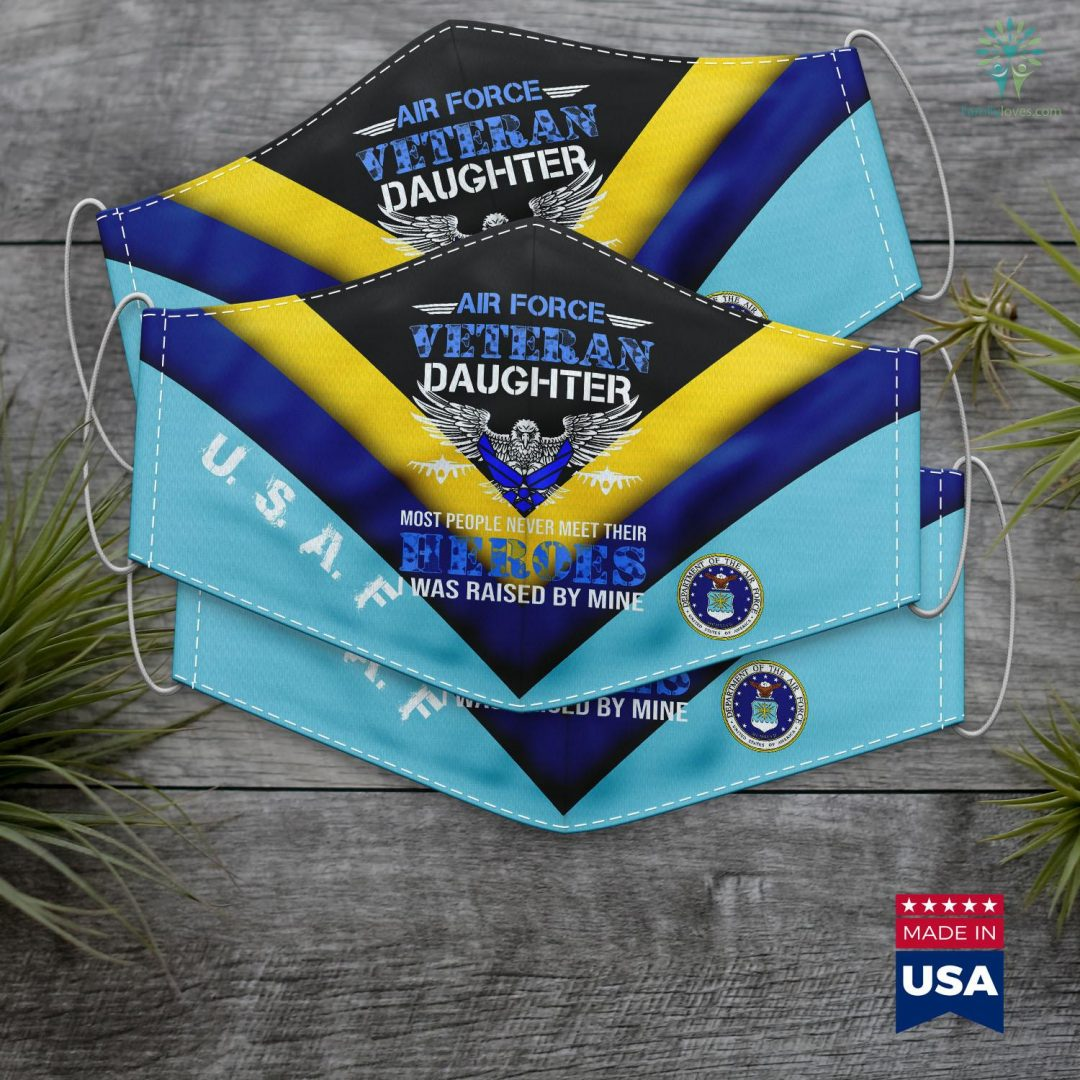Us Air Force Wikipedia Air Force Veterans Daughter U.S. Veterans Day Gift Face Mask Gift Familyloves.com