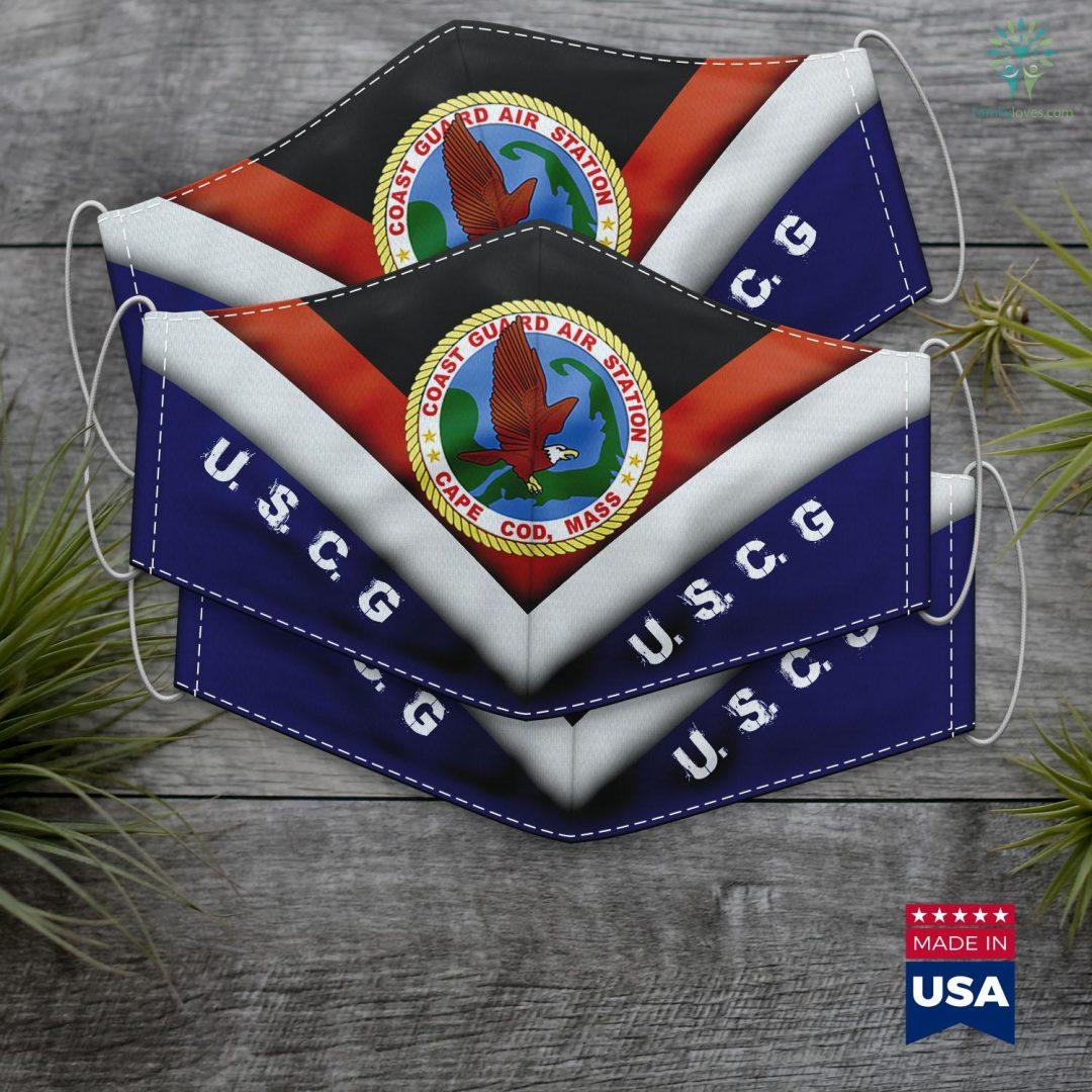 Us Coast Guard Birthday Coast Guard Air Station Cape Cod Face Mask Gift Familyloves.com