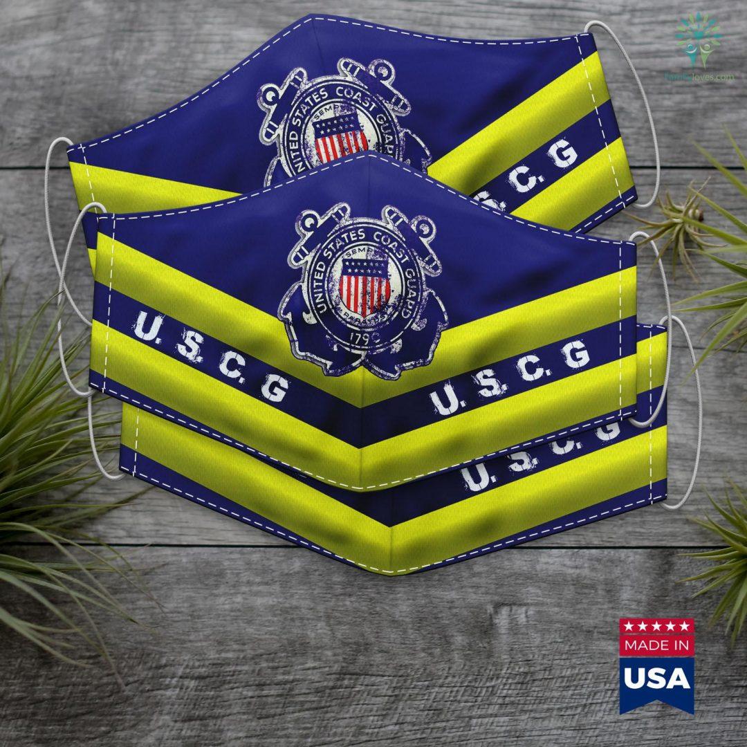 Us Coast Guard Boats U.S.Coast Guard Original Cool Uscg Logo Face Mask Gift Familyloves.com