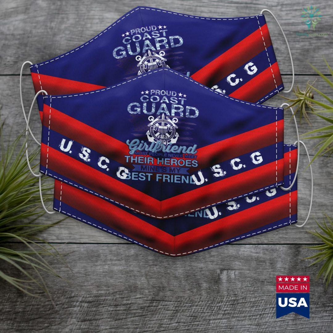 Us Coast Guard Day Proud Coast Guard Girlfriend Tee Coast Guard Face Mask Gift Familyloves.com