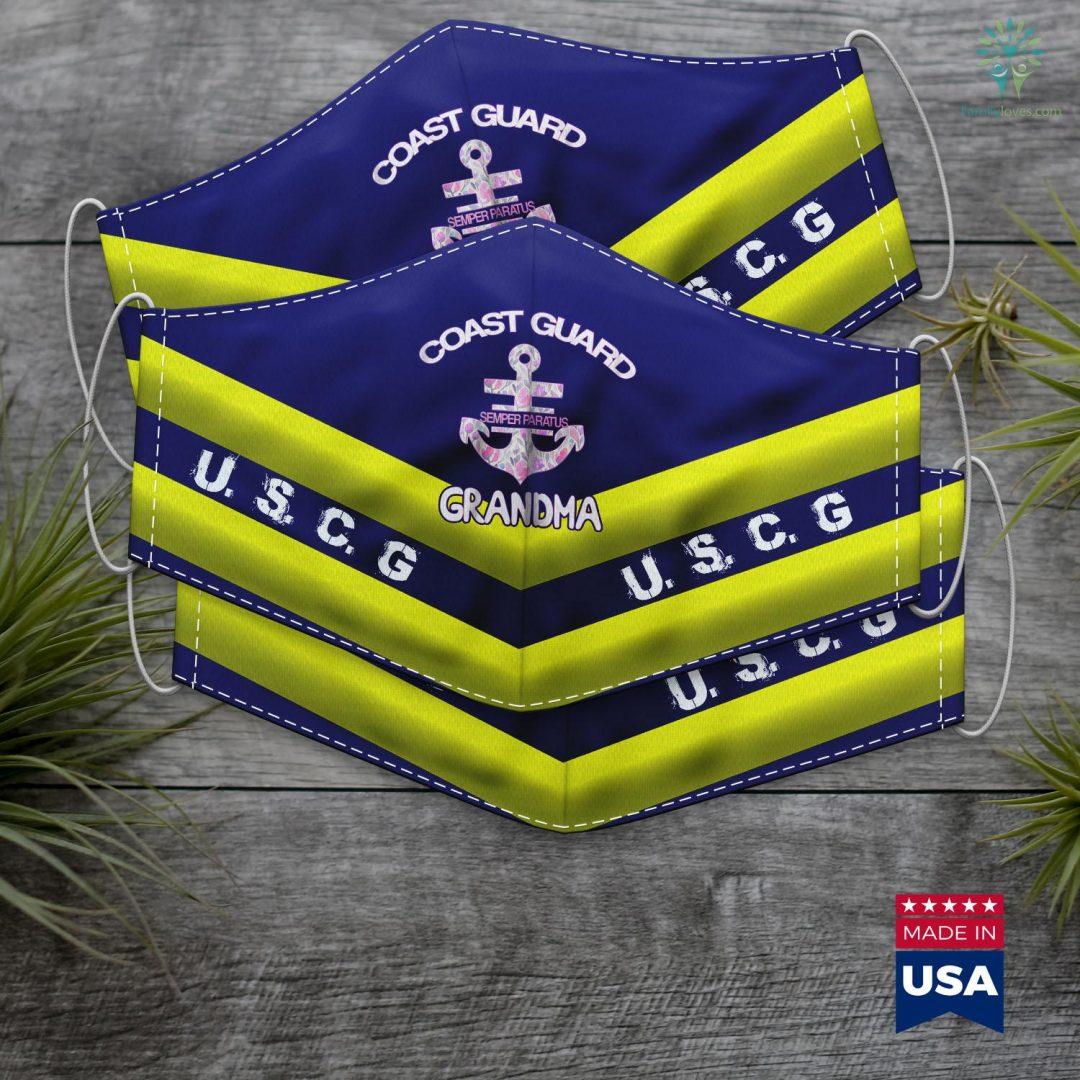 Us Coast Guard Jobs Womens Womens Coast Guard Grandma Granny Teegift Face Mask Gift Familyloves.com