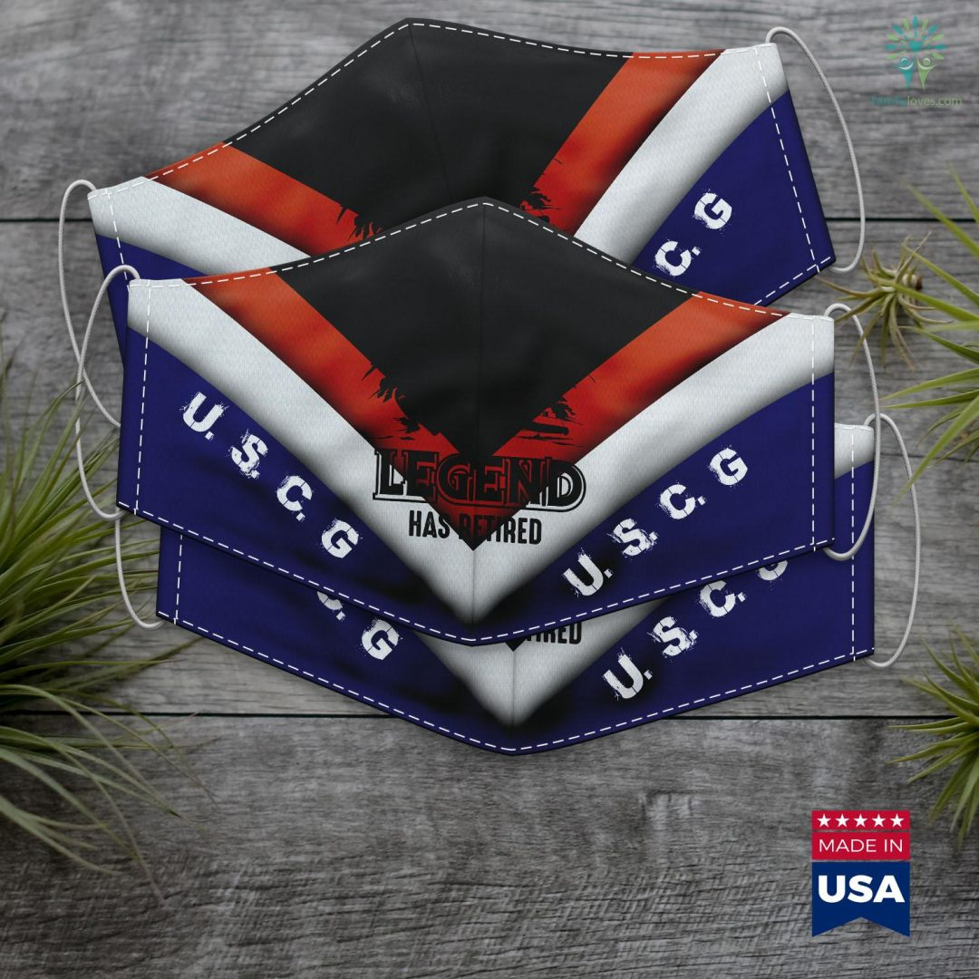 Us Coast Guard License A Coast Guard Legend Has Retired Cool Volunteer Gift Face Mask Gift Familyloves.com