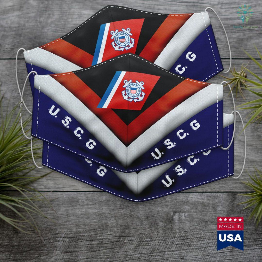 Us Coast Guard Mission Coast Guard Face Mask Gift Familyloves.com