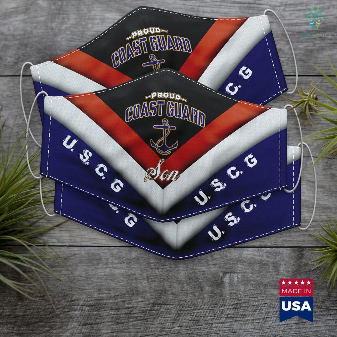 Us Coast Guard Station Coast Guard Son For Men And Boys Face Mask Gift Familyloves.com