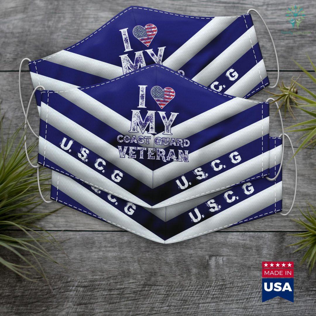 Us Coast Guard Washington Dc I Love My Coast Guard Veteran Vintage Veterans Day Gift Face Mask Gift Familyloves.com