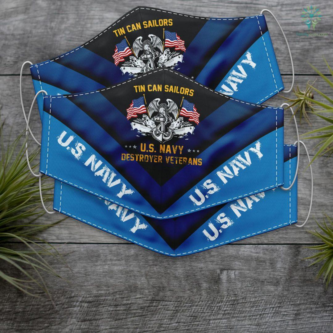 Us Navy Boyfriend Tin Can Sailors Us Navy Destroyer Veterans Face Mask Gift Familyloves.com