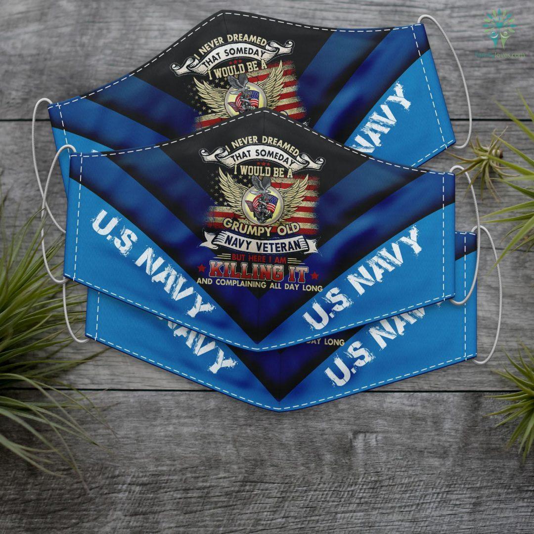 Us Navy Office Mens Someday I Would Grumpy Old Navy Veteran Veteran Of Us Navy Face Mask Gift Familyloves.com