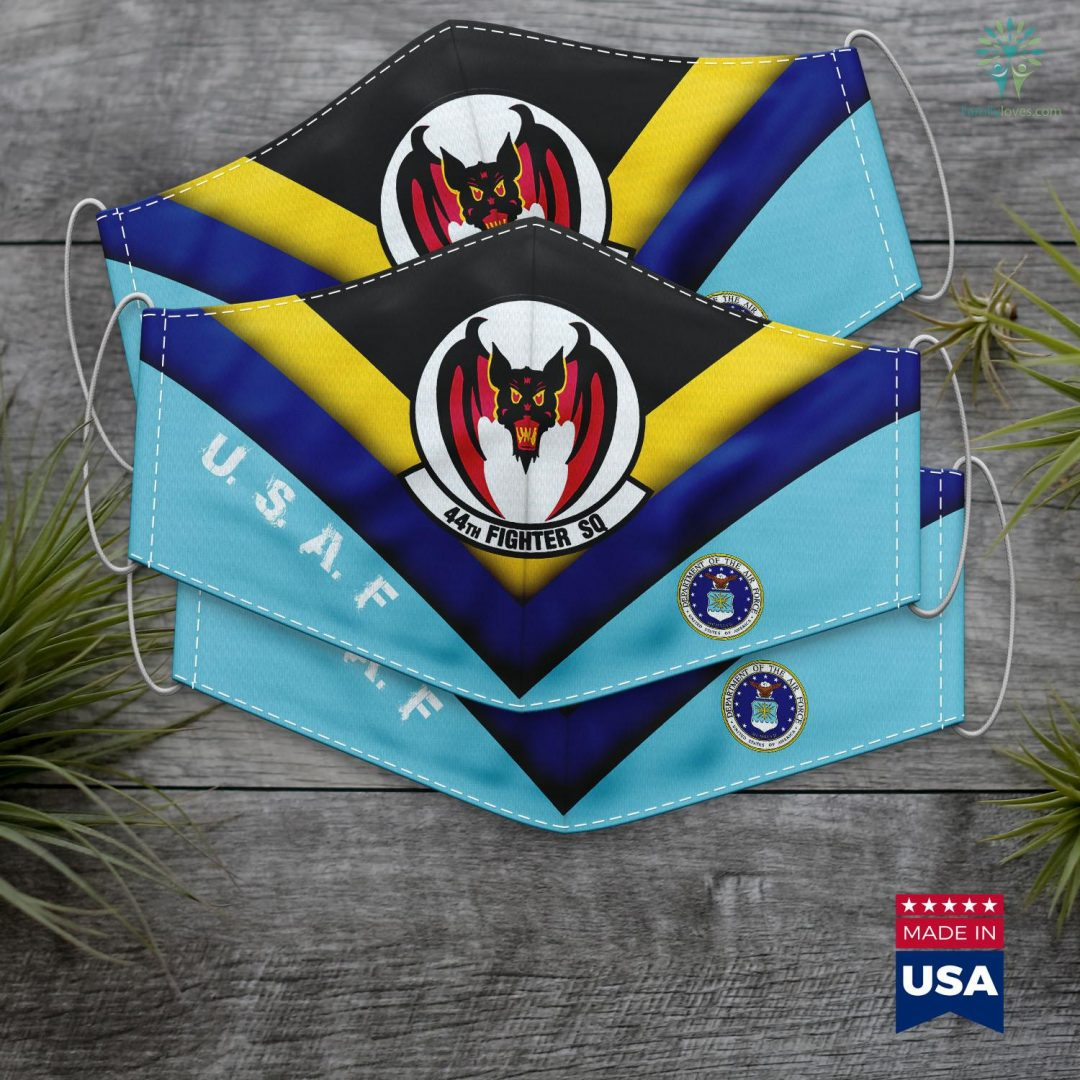 Us Navy Pay Air Force Fighter 44Th Squadron Insignia Vampires Face Mask Gift Familyloves.com
