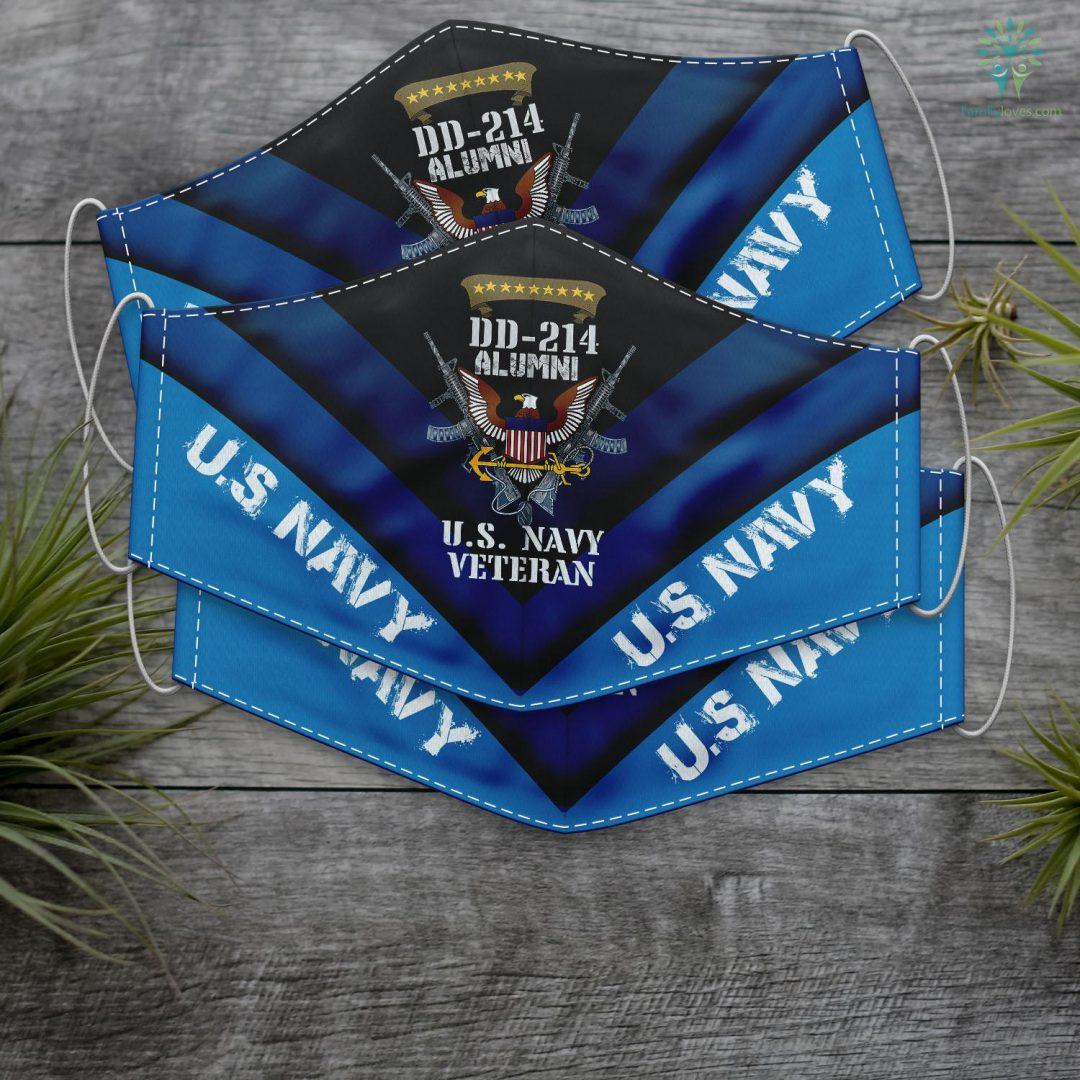 Us Navy Veteran Dd 214 Veteran Us Navy Alumni Us Navy Proud Veteran Face Mask Gift Familyloves.com