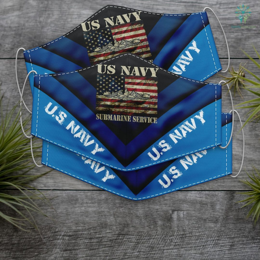 Us Navy Wallet Vintage Us Navy Submarine Service American Flag Face Mask Gift Familyloves.com