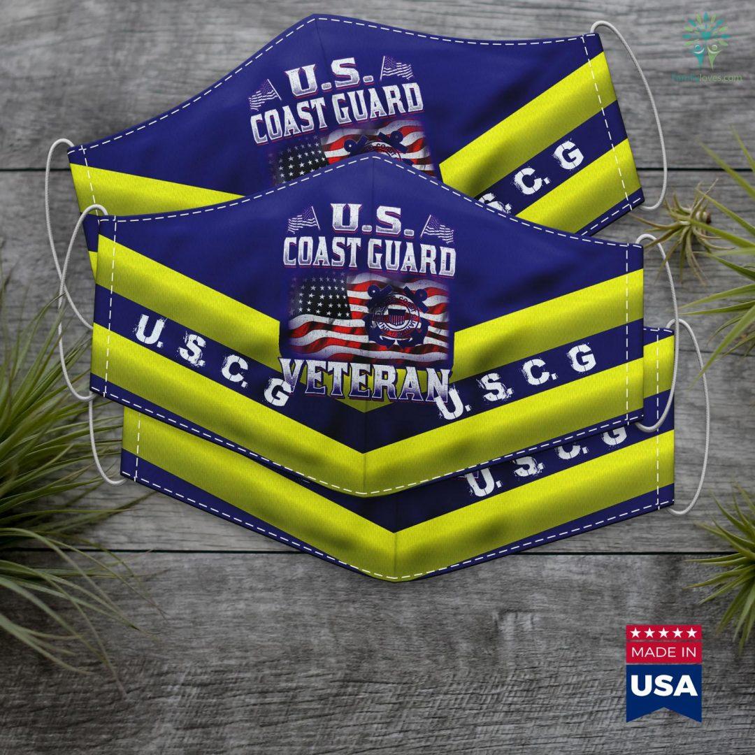 Uscg Headquarters U.S. Coast Guard Veteran Vet Face Mask Gift Familyloves.com