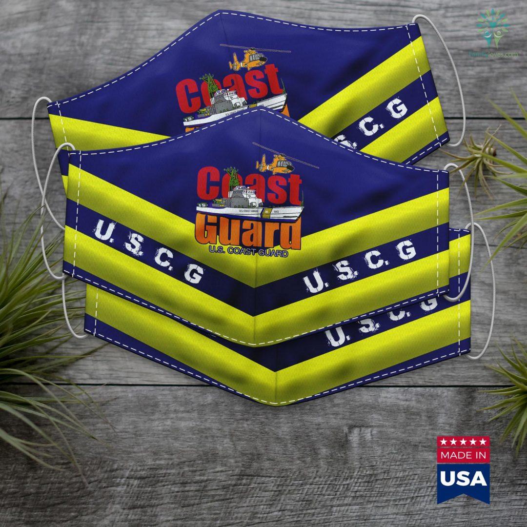 Uscg Seal U.S. Coast Guard Original Uscg Team Gif Face Mask Gift Familyloves.com
