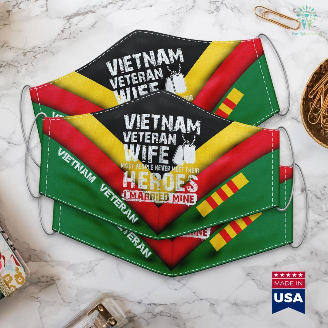 Vva Pickup Vietnam Veteran Wife Face Mask Gift Familyloves.com