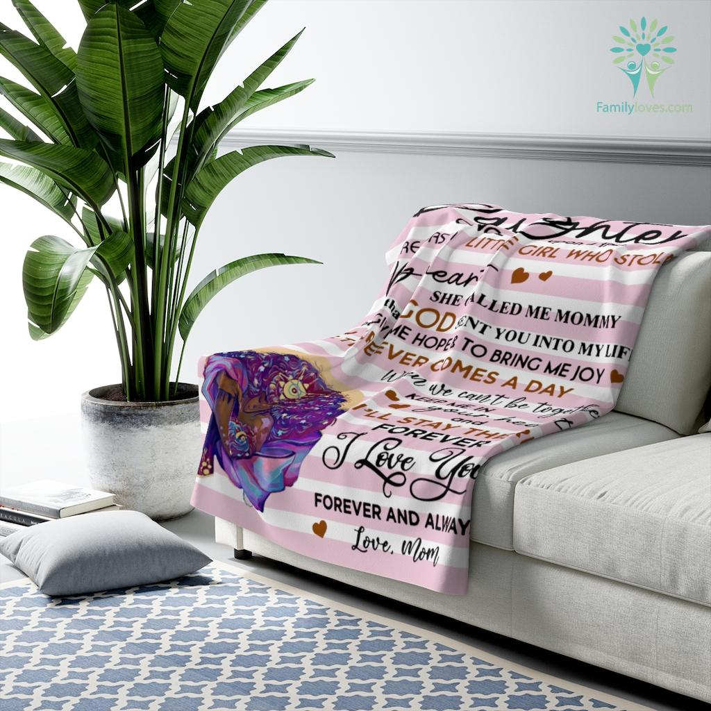 Mom To My Daughter - Black Girl Who Stole Blanket Once Upon A Time Sherpa Fleece Blanket Familyloves.com