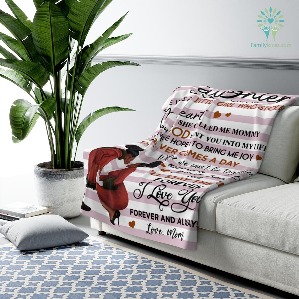 To My Daughter Once Upon A Time There Was A Black Girl Love Mom Sherpa Fleece Blanket Familyloves.com
